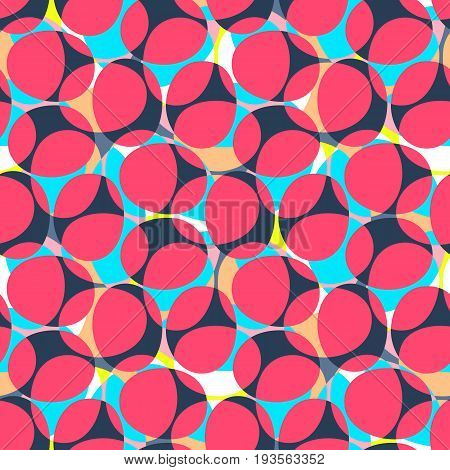Abstract Seamless Pattern. Oval Shapes Motif Background. Trendy Decoration Design