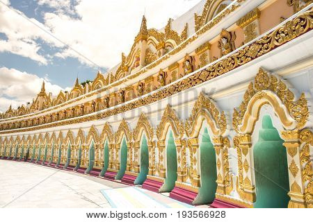 U Min Thonze Sel Pagoda at on Sagaing Hill Mandalay Division Myanmar Burma