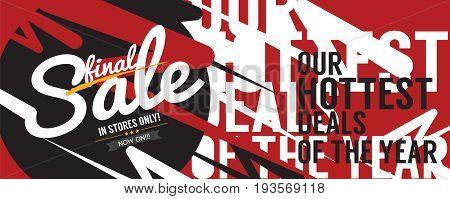 Final Sale 6250x2500 pixel Banner Vintage Style Vector Illustration