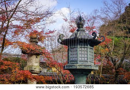 Traditional Lanterns In Kyoto, Japan