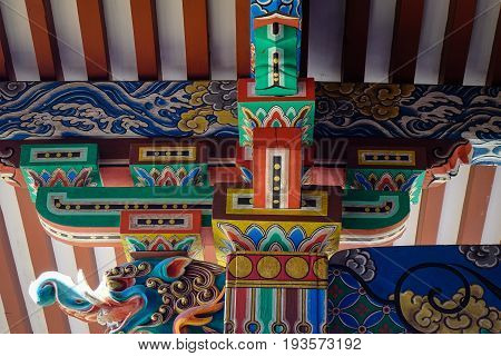 Details Of Shinto Shrine In Kyoto, Japan