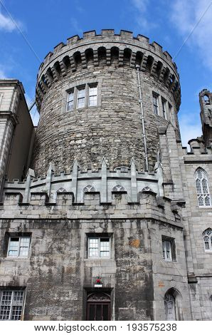 Strong tower of the Dublin castle, Ireland