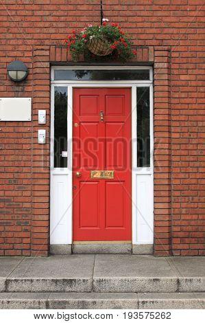 Detail of a Georgian door in Dublin, Ireland