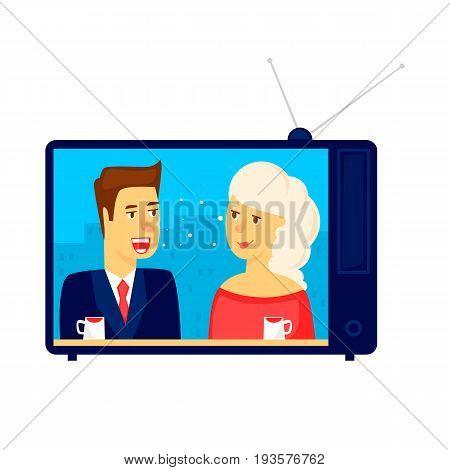 TV show. Character. Flat design vector illustration.