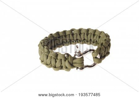Colbert, WA - June 9, 2017: Paracord survival bracelets made in the USA, in camouflage color, illustrative editorial