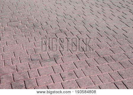 Brick Paving Stones On A Sidewalk Background Texture