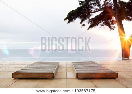 Porch Overlooking Ocean