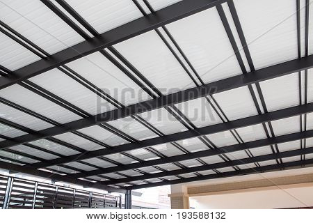 Metal Sheet Roof Of Warehouse