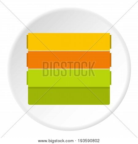 Colorful wallpapers icon in flat circle isolated vector illustration for web