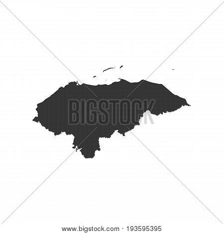 Honduras map on the white background. Vector illustration