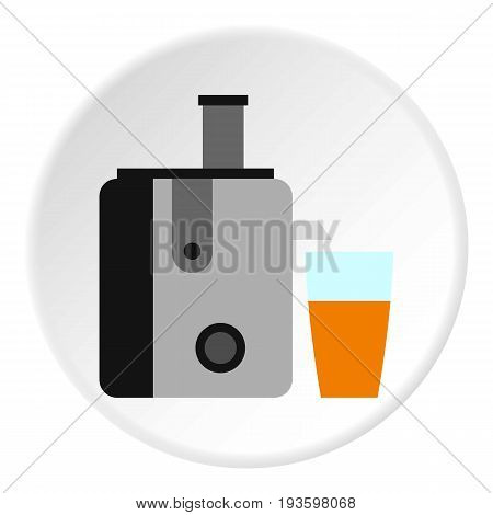 Juicer icon in flat circle isolated vector illustration for web