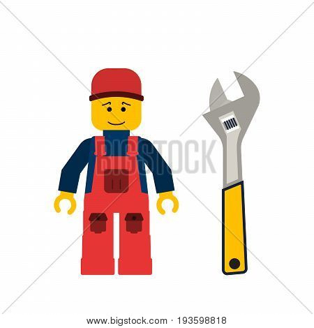 Do it yourself, construction repair tools flat. Tools allen wrench. Isolated allen wrench tools flat.  DIY tools.