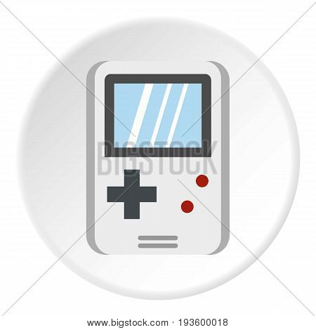 Tetris for games icon in flat circle isolated vector illustration for web