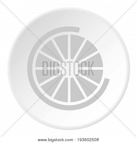 Sign incomplete download icon in flat circle isolated vector illustration for web
