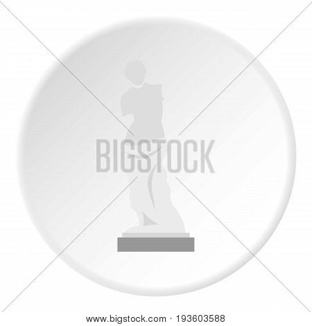 Statue of Venus de Milo icon in flat circle isolated vector illustration for web