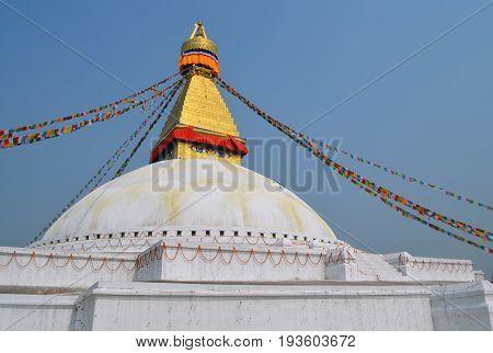 The Great stupa Bodnath in Kathmandu, Nepal