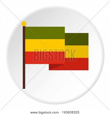 Flag of Jamaica icon in flat circle isolated vector illustration for web