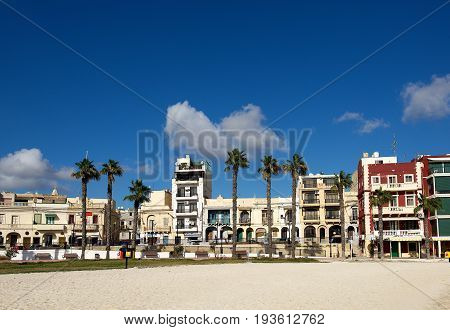 BIRZEBUGGA, MALTA-dec 7: Birzebugga village, Malta, view of Birzebugga village early morning on Dec 7,2015. Birzebugga, Malta. Holidays in Malta. Traditional houses in Malta. Maltese architecture