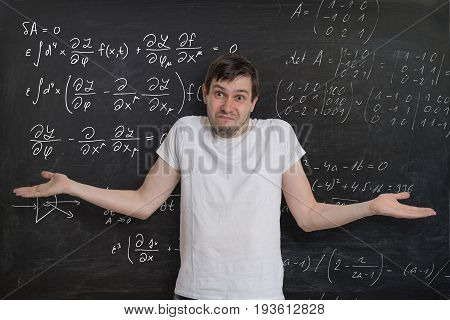 Young Student Is Doing Math Exam And Dont Know How To Solve Diff
