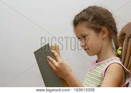 Girl Is Reading Big Book