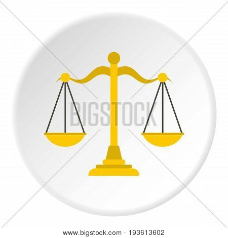 Themis libra icon in flat circle isolated vector illustration for web