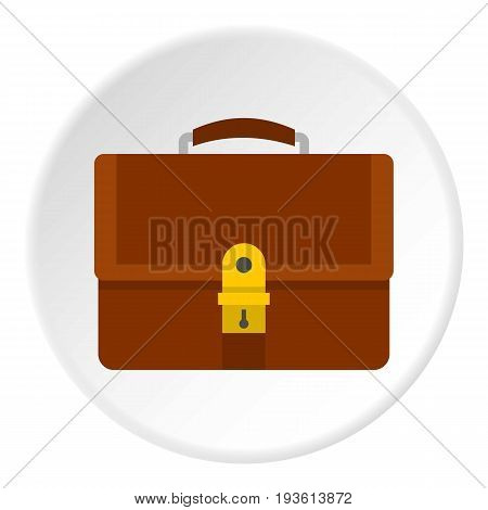 Office diplomat icon in flat circle isolated vector illustration for web