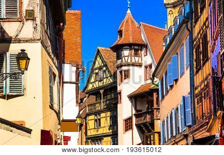 Kaysersberg - one of the most beautiful traditional villages of Alsace region in  France