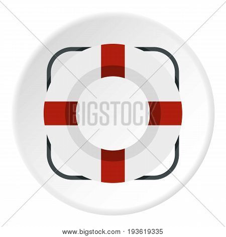 Lifeline icon in flat circle isolated vector illustration for web