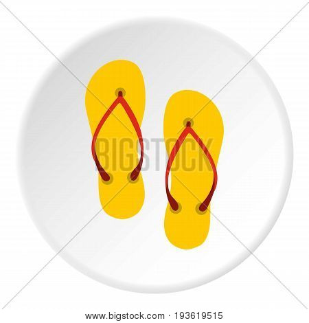 Slates icon in flat circle isolated vector illustration for web