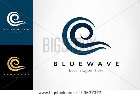 Wave logo. Vector logotype design for your business.