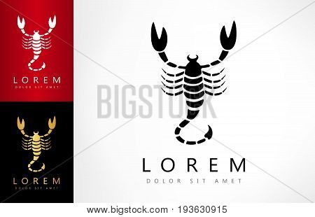 Scorpion logo. Vector logotype design for your business.