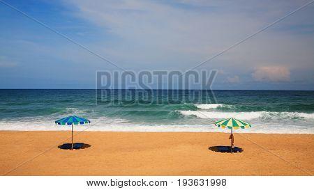 Umbrella Or Parasol On Beach