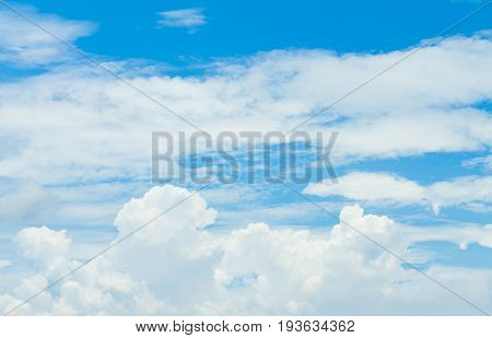 blue sky And Clouds. peaceful sky and cloud in good weather day. Sky And clouds in day time for background