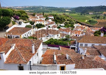 Obidos Village And Its Castle Portugal