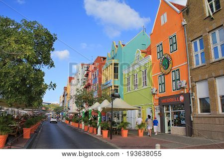 Colorful Houses In Willemstad, Curacao