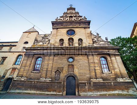 Bernardine church and monastery in Lviv Ukraine