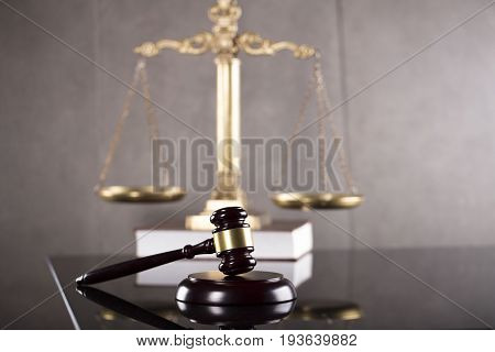 Law and economic business concept, gavel and differnt codes.
