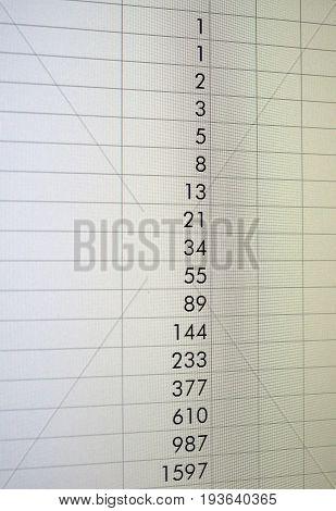 Spreadsheet On Screen
