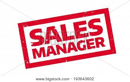 Sales Manager rubber stamp. Grunge design with dust scratches. Effects can be easily removed for a clean, crisp look. Color is easily changed.