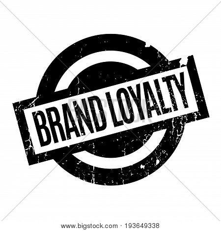 Brand Loyalty rubber stamp. Grunge design with dust scratches. Effects can be easily removed for a clean, crisp look. Color is easily changed.