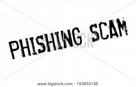 Phishing Scam rubber stamp. Grunge design with dust scratches. Effects can be easily removed for a clean, crisp look. Color is easily changed.