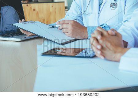 Doctors Teamwork Discuss Meeting.