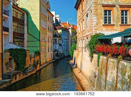 Certovka River In Old Town -stare Mesto- Prague, Czech Republic
