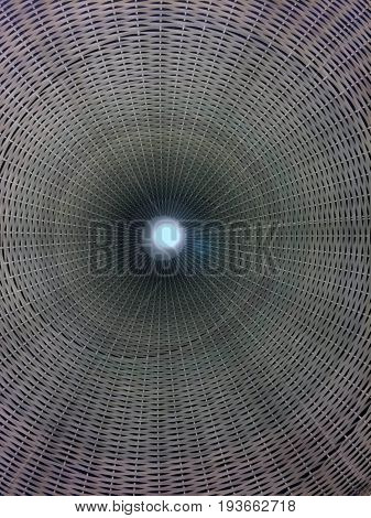 abstract of corrugated background with light and circle