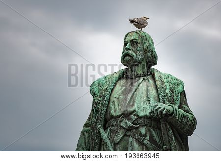 Monument to Engelbrekt Engelbrektsson leader of the swedish rebellion in 1434-1436 Orebro Sweden Scandinavia Europe