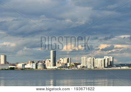 Kazan, Russia - 3 July, 2017. Novo-Savinovsky City District. Hotel
