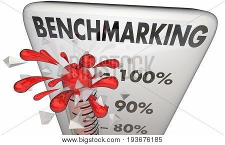 Benchmarking Thermometer Measurement Comparison 3d Illustration