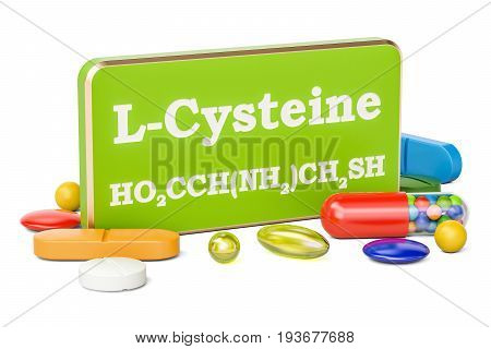 L-cysteine concept 3D rendering isolated on white background