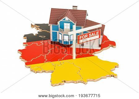 Property for sale and rent in Germany concept 3D rendering