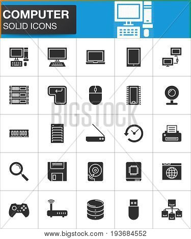 vector icons set modern solid symbol collection filled style pictogram pack. Signs logo illustration. Set includes icons as